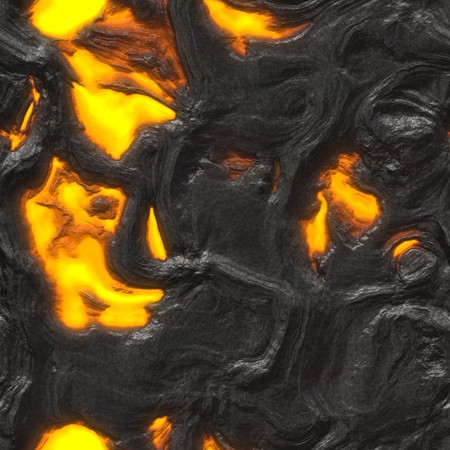 background of fire or lava with black spots and yellow and orange hot lava. tiles seamlessly photo