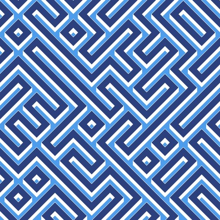 seamlessly: blue maze pattern with walls and corridors. tiles seamlessly