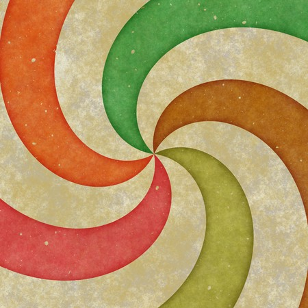 grungy five point spiral on a brown textured background