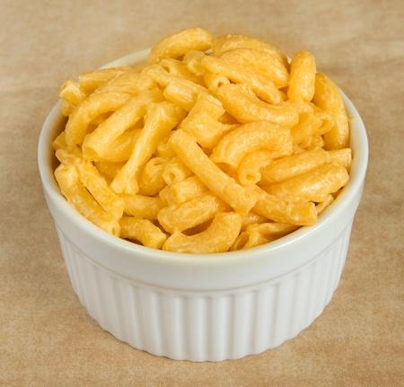 macaroni and cheese dinner in a ramekin photo