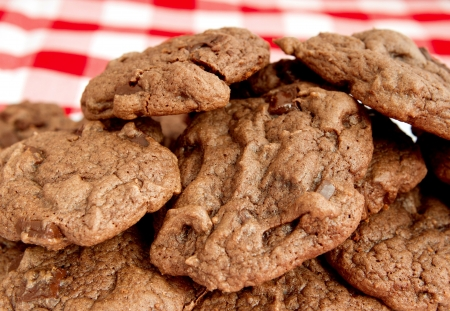 small batch of double chocolate chip cookies Stock Photo - 8798633