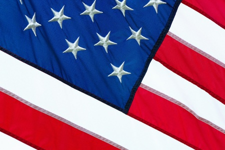 close up of a part of the American flag