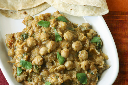 Chana dal cooked in fresh indian spices photo