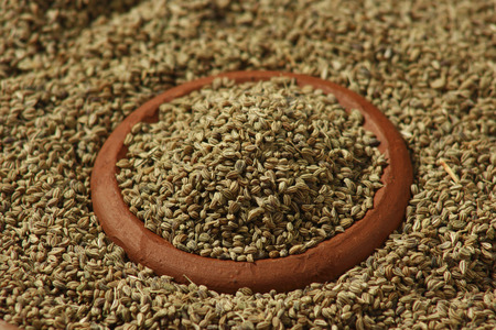 caraway: Ajwain or Ajowan Caraway  botanical name of Trachyspermum copticum   also known as Ajowan caraway, carom seeds or mistakenly as bishop