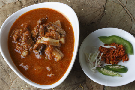 indian cookery: sorpotel - spicy pork served at festivals in Goa Stock Photo