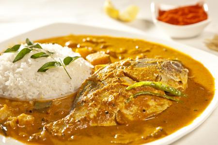 curry: Pescado al curry con arroz