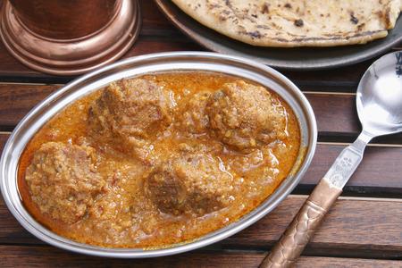 mutton: Mutton kofta curry - A mutton dumplings cooked in a yogurt based gravy