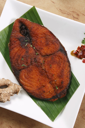 fish fry:  Fish fry malabar kerala food india indian cuisine Food  Stock Photo