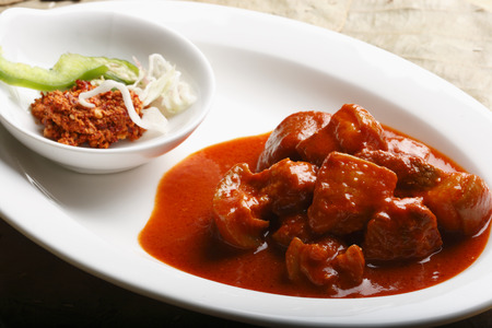 Pork Vindaloo - Hot and Sour Pork from Western coast  Pork Vindaloo is made of pork cubes spiced with the choicest spices Stock fotó