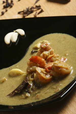 malai:  Prawn malai curry -  Bengali style jumbo prawn curry cooked in coconut milk