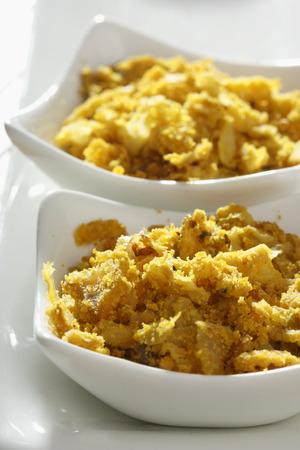marathi: Cabbage Zunka   Stock Photo