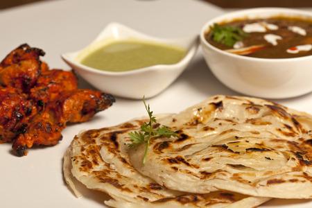 paratha: Paratha with paneer masala and chicken kebab