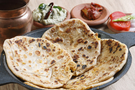 Channa Dal Paratha - A flatbread made of stuffed boiled channa dal and spices