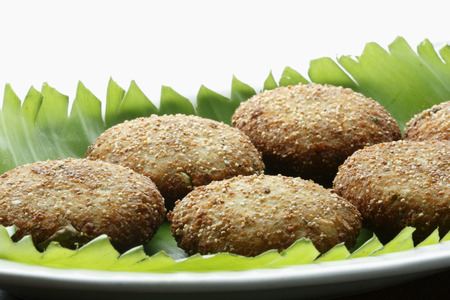 indian cookery: Roasted dumplings of coconut   poppy seeds