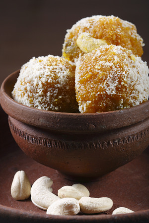 chick pea: Darbesh - Sweet ball made from chick pea flour    Stock Photo