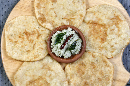 Urad dal puri indian flatbread  photo