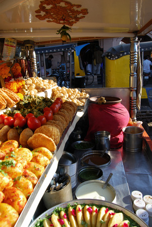 sev: Chaat stall on the streets of Rajasthan.