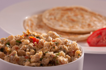 paratha: Egg bhurji and Paratha