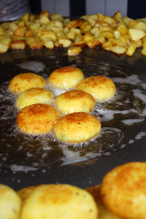 Aloo tikki is a North Indian snack made of boiled potatoes and various spices