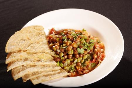 paratha: Paratha with sprout masala  Stock Photo