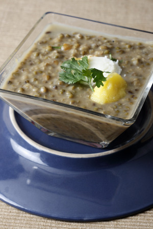 indian cookery: A Punjabi dal with a combination of chana dal, rajma and flavored with kasoori methi