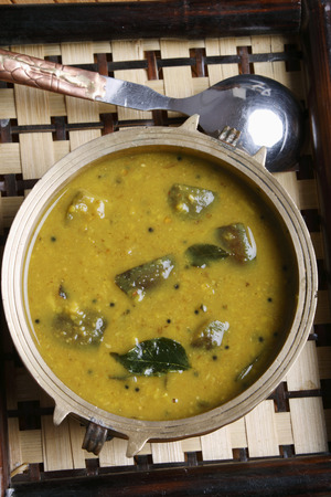 marathi: Vangi Dal - Dal with eggplant Stock Photo