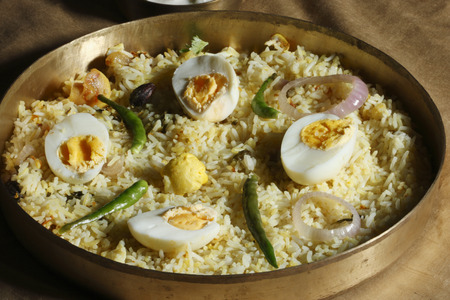 biryani: Hyderabad egg biryani  Stock Photo