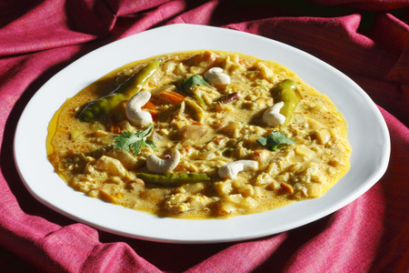 malai: Malai Korma- a gravy made from cream Stock Photo