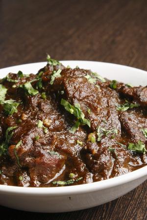 kasha: kasha mangsho, a curry of goat-meat chunks  Stock Photo