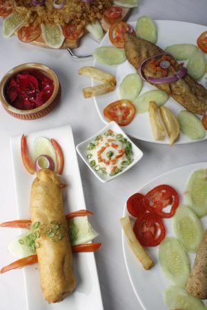 bengali: Bengali mixed food Stock Photo