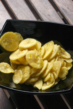 chats: Banana Chips  Stock Photo
