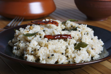 Rice upma is basically made from crushed rice and can be served with sambar or chutney