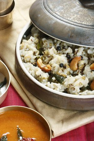 pongal: Ven pongal is served with coconut chutney, sambar and vadai  There are many types of Pongal