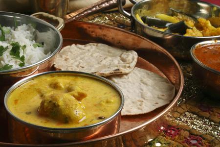 indian cookery: Kadhi Pakori   Stock Photo