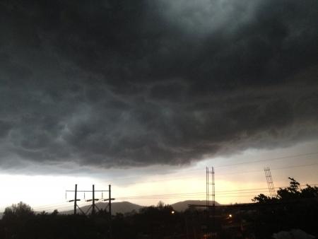 Dunkle Wolken vor dem Sturm Standard-Bild - 21383695