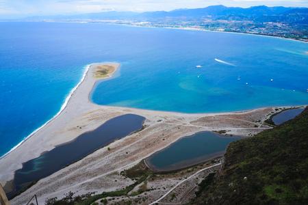 Landscape of Tindari beach Banco de Imagens