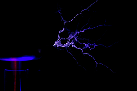 Electrostatic Discharge of Tesla Coil                                Stock Photo
