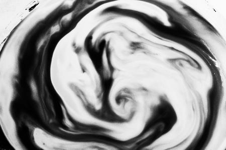 Black sinuous shape Stock fotó
