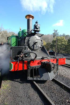 narrow gauge railroad: Steam Train Stock Photo