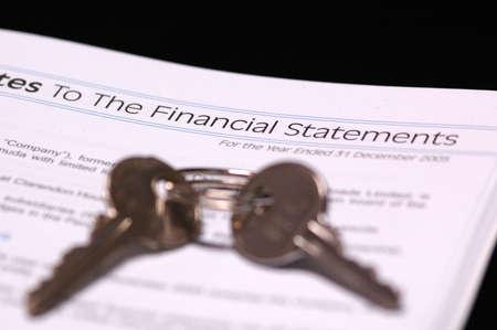computation: The Financial Statement Stock Photo