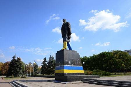 lenin: Lenin monument. Ukraine, Donetsk region