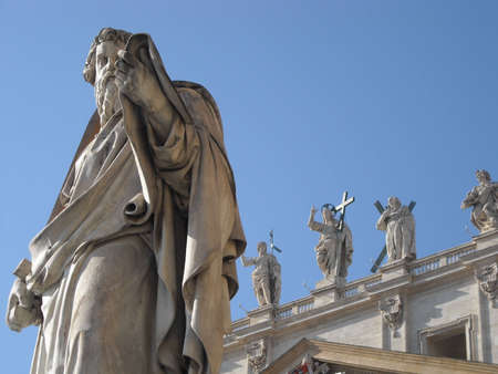 Statue of St Peter in the Vatican photo