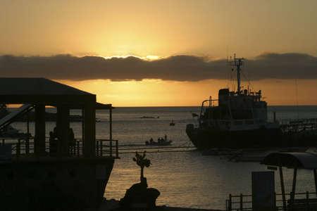 Sunset at Puerto Ayora Galapagos Island