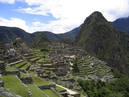 cusco: A View of Machupicchu Ruins in Cusco, Peru Stock Photo