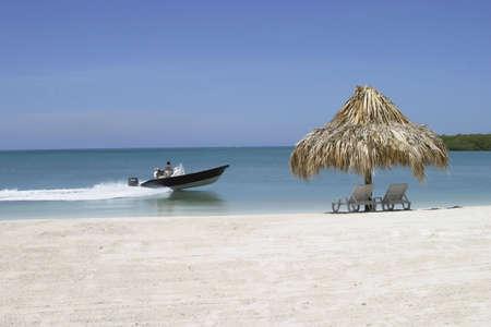 Scenic seascape at the caribbean coast