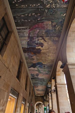 Arcos de la Rivera in the Casco Viejo of Bilbao, Vizcaya, Basque Country, Spain.