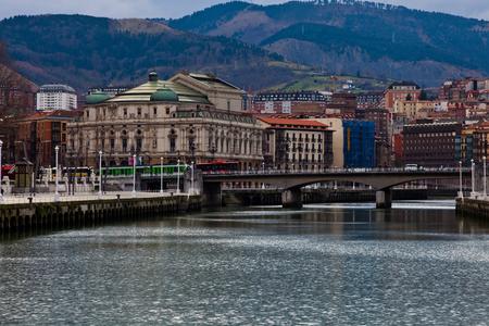 Teatro Arriaga in the Casco Viejo of Bilbao, Vizcaya, Basque Country, Spain. Editorial