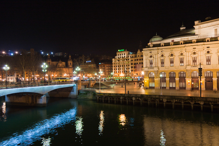 Teatro Arriaga in the Casco Viejo of Bilbao, Vizcaya, Basque Country, Spain. Stock Photo - 110141905