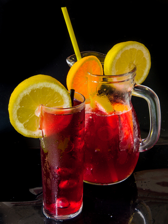 Jug of sangria Stock Photo - 113845261