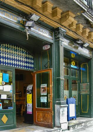 Facade of the Ein Prosit bar in Bilbao, Vizcaya, Basque Country. Editorial